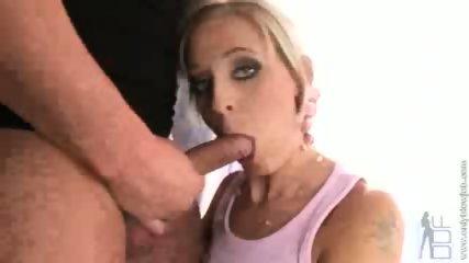 This horny slut blows his cock - scene 5