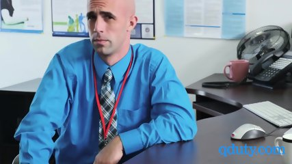 Gay coworkers assist a meeting with horny boss at his office