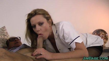 Brit nurse mouth jizzed