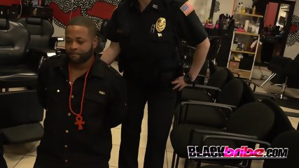 Quick haircut gets this criminal apprehended by milf cops