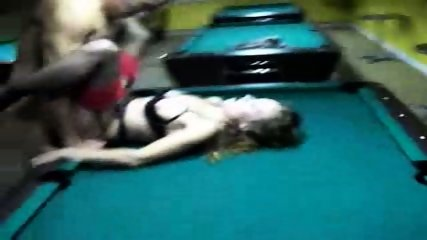 MILF gets fucked on a pool table