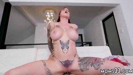 Skinny blonde milf with big boobs first time Making My Step-Mom Squirt