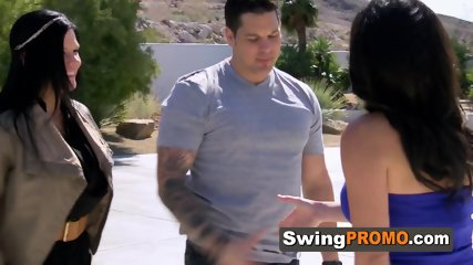 Couple looks forward to celebrate husbands birthday at the swing house