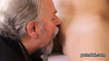Elegant college girl gets teased and plowed by older tutor