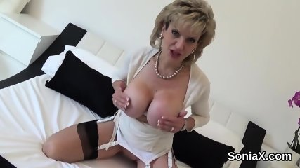 Unfaithful british mature gill ellis showcases her huge naturals
