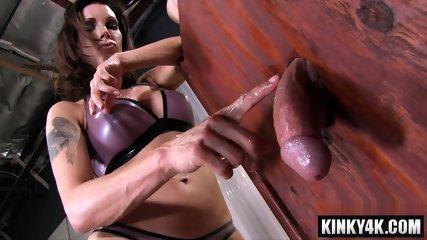Hot pornstar femdom with cum eating