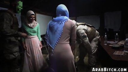 Arab feet worship and couple homemade Sneaking in the Base!
