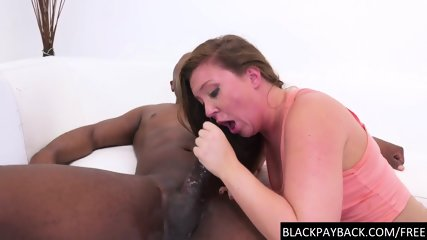 Nasty pornstar throats big black cock