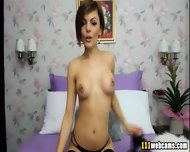 Elegant Lady Shows Her Charms On Webcam - scene 7