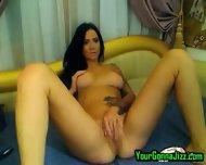 Hot Tatooed Brunette Fingering - scene 3