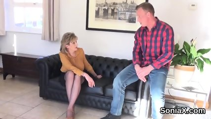 Unfaithful english mature lady sonia shows off her big jugs