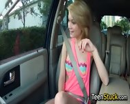 Blonde Teen Girl Feels Naughty And Touches Guy - scene 8