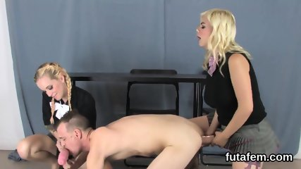 Cuties pound bfs butt hole with enormous strap-ons and splash love juice