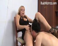 Guy Eating Femdom Pussies - scene 11
