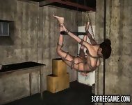 Tied Up 3d Cartoon Babe Hanging From The Ceiling - scene 2