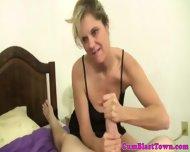 Cum Loving Mature Enjoying Jizz Shower - scene 8