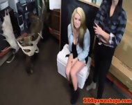 Busty Teen Pawnshop Customers Go Lesbian - scene 1