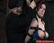 Kinky Bdsm Sub With Tattoos Tied Up - scene 9