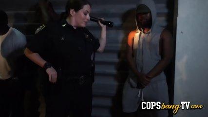 Pervert milf cops barge inside music studio to bang rapper TT
