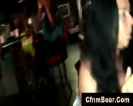 Sexy Cfnm Babes Sucking Stripper Cock At Party - scene 3