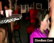Sexy Cfnm Babes Sucking Stripper Cock At Party - scene 6