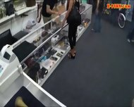 Amateur Chick Pounded By Pawnshop Keeper Inside The Office - scene 4