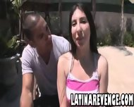 Latina With Big Tits Takes A Facial Cumshot - scene 1