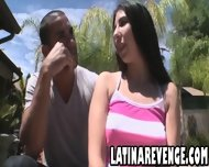 Latina With Big Tits Takes A Facial Cumshot - scene 2