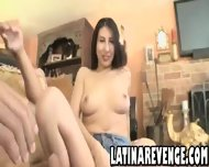 Latina With Big Tits Takes A Facial Cumshot - scene 6