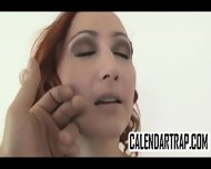 Small Tit Amateur Redhead Does A Striptease - scene 8