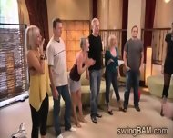 Hot Couples Go Horny On Each Ohters At This Rpivate Party - scene 6