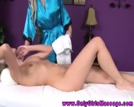 Petite Nude Massage Client Gets Felt Up - scene 9