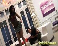 Stunning Miniskirt Babe - scene 8