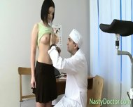 Old Gynecologist Inspects Teen Pussy - scene 3