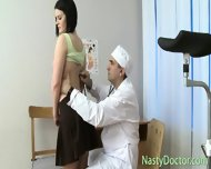 Old Gynecologist Inspects Teen Pussy - scene 4