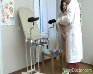 Old Gynecologist Inspects Teen Pussy - scene 7