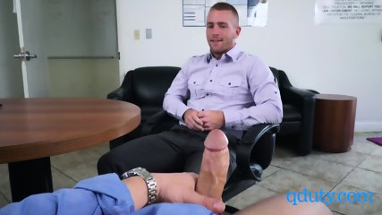 Gay Boss and employee engage in hot sex at their office
