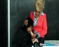 Bukkaked Lesbo Rammed - scene 3