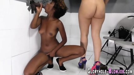 Ho blows glory hole bbc