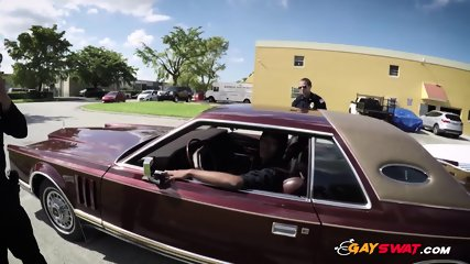 Gay cops take suspect to their own private spot to get his asshole banged