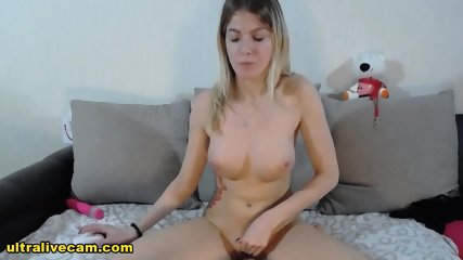 Petite Blonde Runs No Holds Barred Live Show