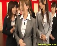 Japenese Office Cutie Chosen To Strip
