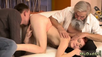 Blonde ass eating Unexpected practice with an older gentleman