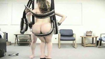 Horny amateur couple use sex swing - scene 8