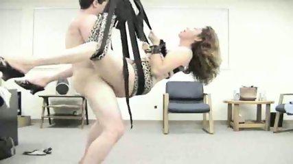 Horny amateur couple use sex swing - scene 10
