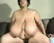 Big Moma ridding cock