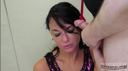 Leather dress bondage and stranger In this anal invasion therapy session, London spends a