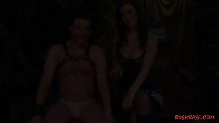 Busty Mistress Pegging a Guy