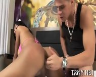 Teen Tranny Serves Mighty Dick