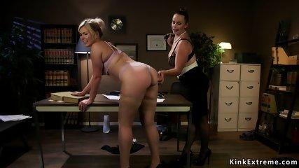 Lesbian lawyer anal bangs busty blonde